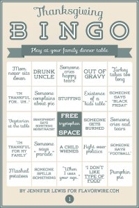 Thanksgiving Bingo 1