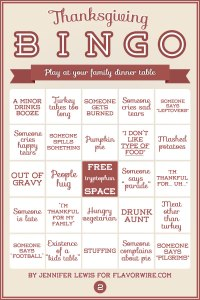 Thanksgiving Bingo 2