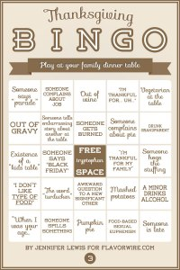 Thanksgiving Bingo 3